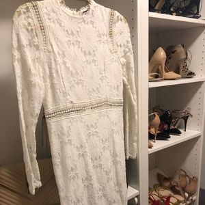 Prettylittlething White Lace Midi